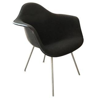 1969 Eames Upholstered Fiberglass Armchair Black
