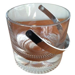 Mid-Century Modern Crystal Ice Bucket