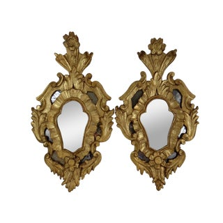 Antique Italian Rococo Mirrors - A Pair