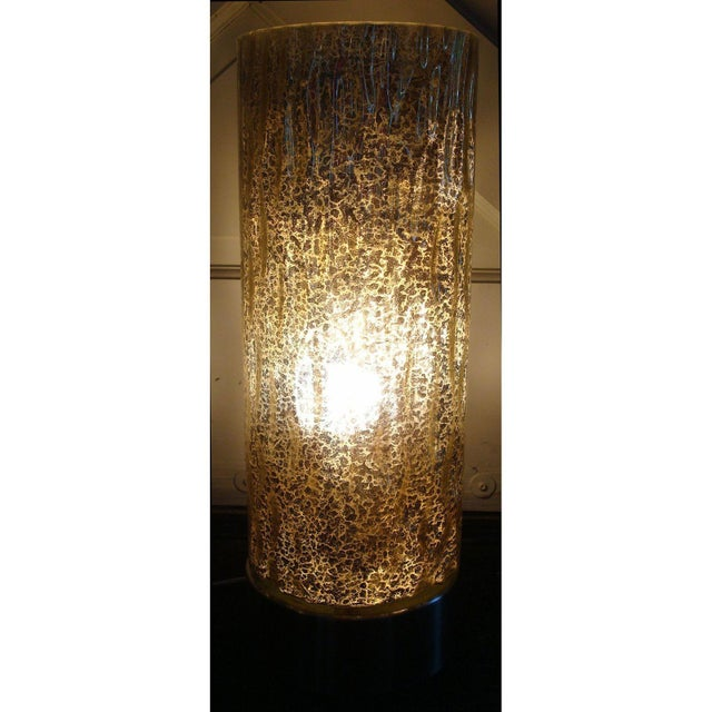 Modern Textured Metallic Glass Table Lamp - Image 2 of 6