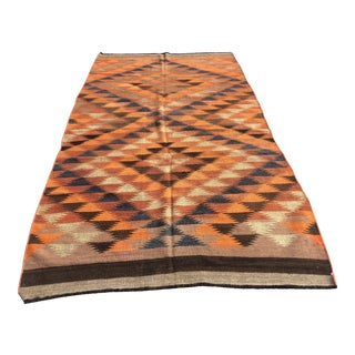 Vintage Persian Kilim Flat Weave Rug - 8′ x 9′7″