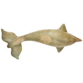 Life Size Vintage Folk Art Dolphin Sculpture