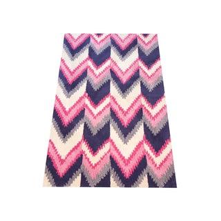 Florence Broadhurst Chevron Wool Rug - 5' x 8'