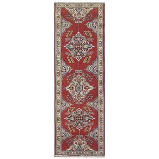 Vintage Persian Tabriz Rug - 2′9″ × 11′1″