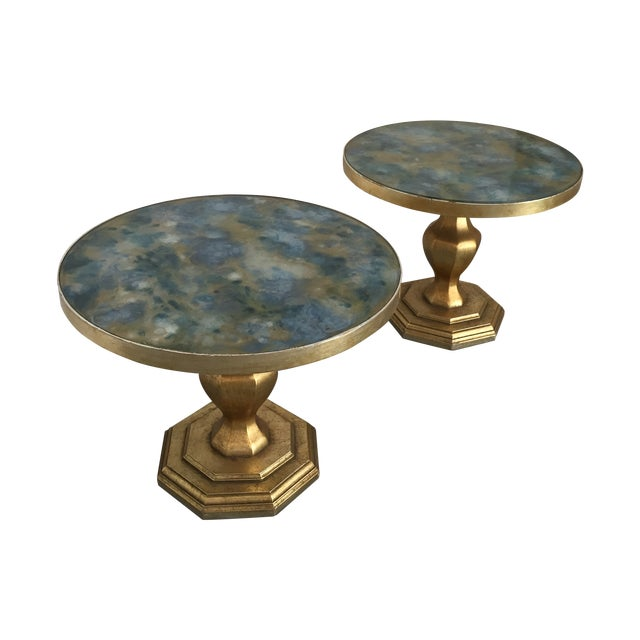 Image of Hollywood Regency 1950's Tables - A Pair