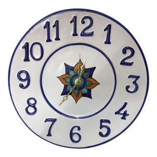 Williams-Sonoma Painted Ceramic Wall Clock