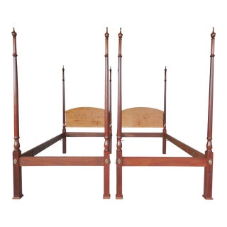 Chippendale Style Twin Poster Beds - Pair