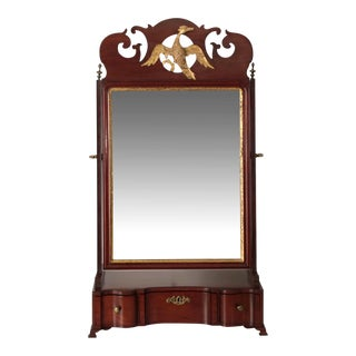 18th Century American Chippendale Mahogany Dressing or Shaving Mirror