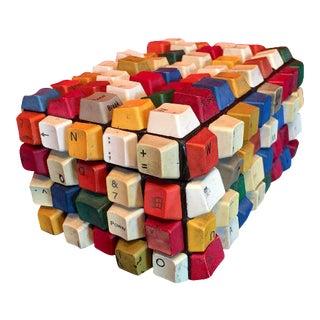 Multicolored Reclaimed Keyboard Keys Wooden Jewerly Box