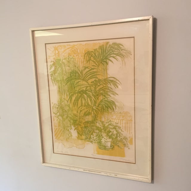 """Floridian Gates"" Framed Intaglio Etching - Image 8 of 10"