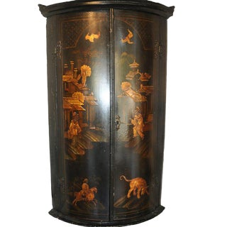 19th Century English Chinoiserie Hanging Corner Cabinet