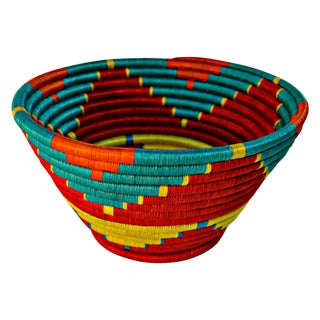 Mid-Century Native American Hand-Woven Basket