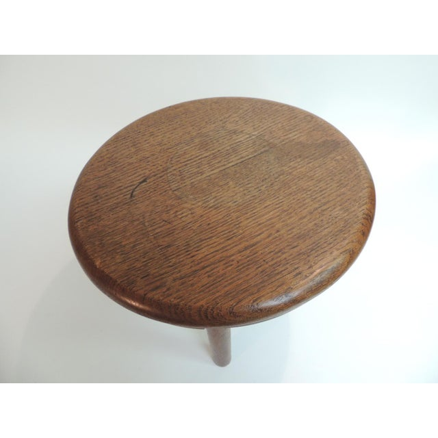 Vintage Round Wood Milking Stool - Image 3 of 5