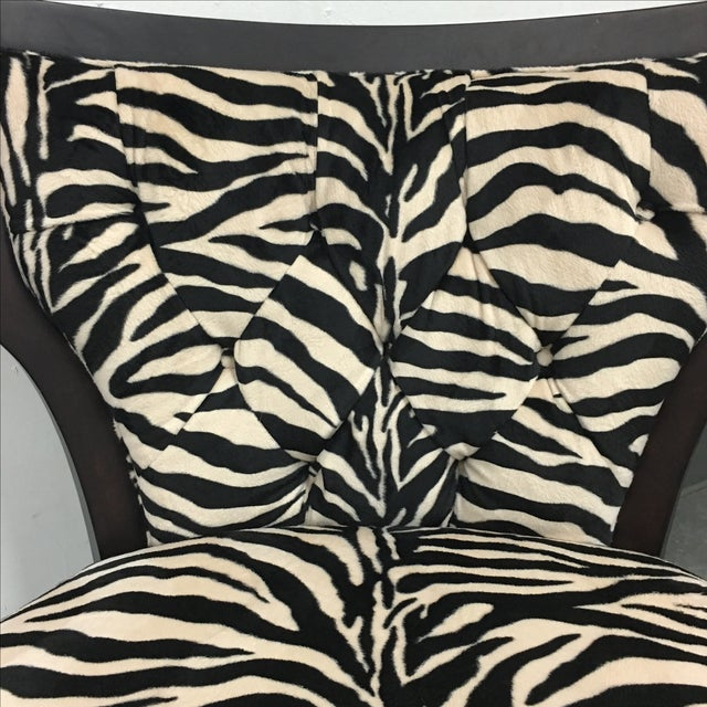 Zebra Print Miley Chair - Image 9 of 10
