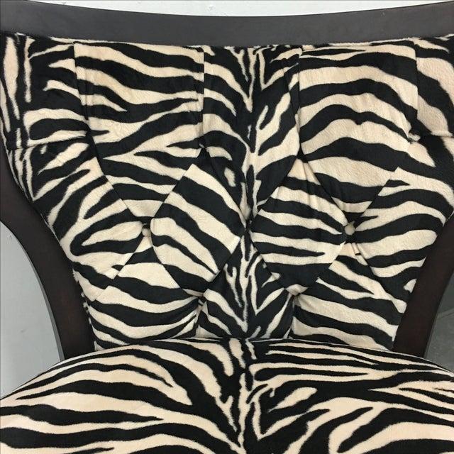 Image of Zebra Print Miley Chair
