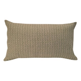 "Fortuny ""Tapa"" Sulphur Green & Off-White Pillow"