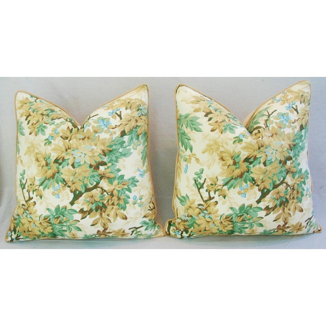 Designer Brunschwig & Fils Foliage Pillows - Pair - Image 8 of 11