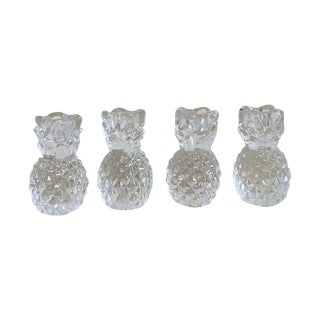 Vintage Crystal Pineapple Candle Holders- Set of 4
