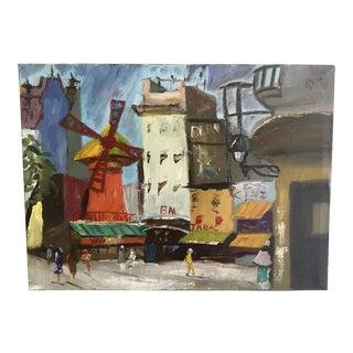 Original 1970's Europe Street Painting