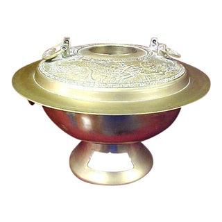 Vintage Large Korean Hot Pot Cooker / Warmer