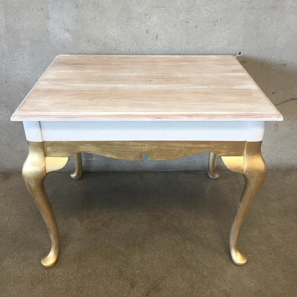 Image of Upcycled Gold & White Side Table