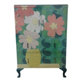Art Deco-Style Dresser with Paisley Flowers