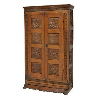 18th Century Spanish Baroque Carved Cabinet