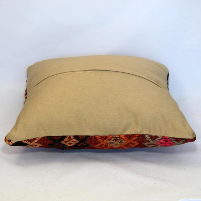 Turkish Handmade Kilim Pillow Cover - Image 5 of 5