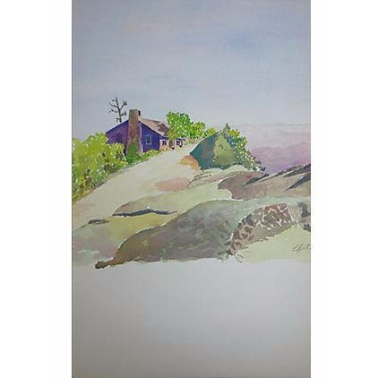 "Image of Watercolor Painting - ""Small House Just Beyond"""