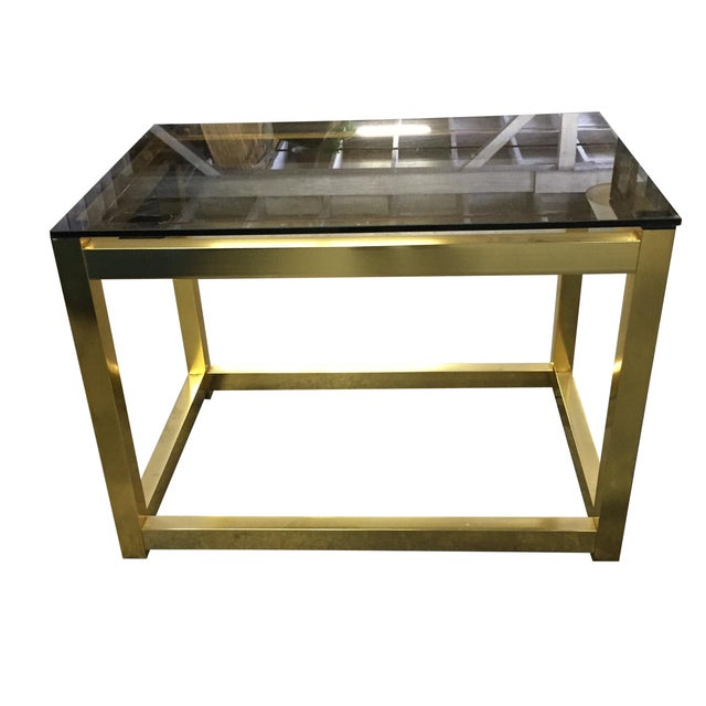 Vintage Modern Brass Side Table - Image 1 of 6