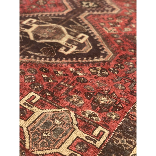 "Vintage Persian Shiraz Area Rug - 5'7""x8'1"" - Image 5 of 11"
