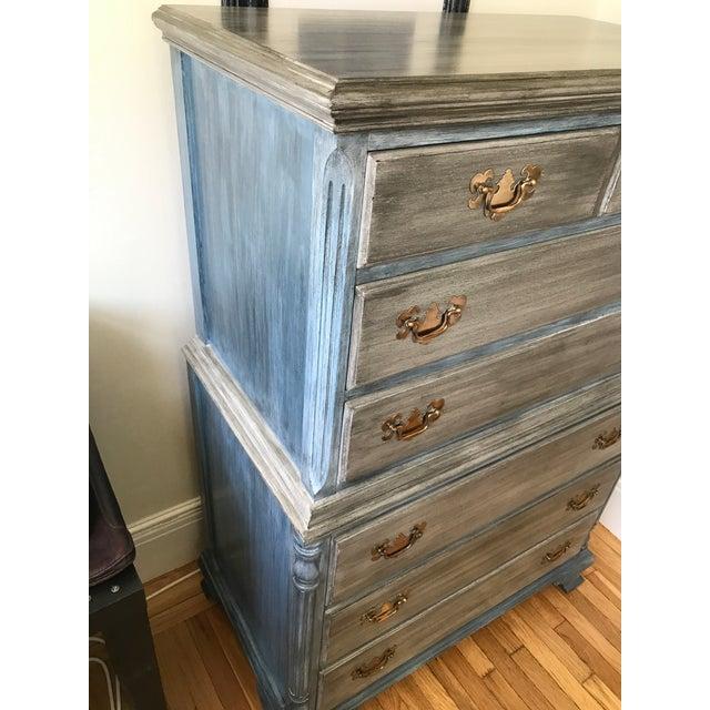 Blu & Gray Tall Boy Dresser - Image 5 of 9