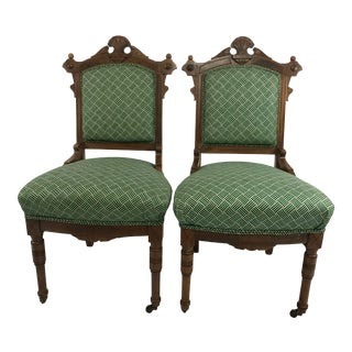 Antique Eastlake Parlor Chairs - A Pair