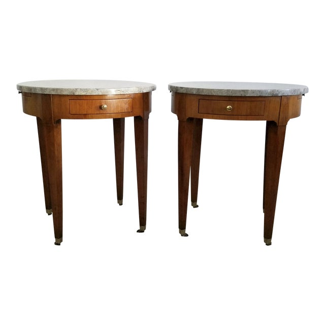 Baker Signature Bouillotte Tables - A Pair - Image 1 of 8