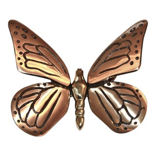 Black & Gold Butterfly Door Knocker
