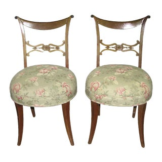 Carved Wooden Side Chairs - A Pair