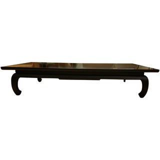 Am. Of Martinsville Black Lacquer Coffee Table