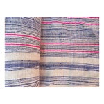 Image of Handwoven Striped Linen Fabric - 10.6 Yards