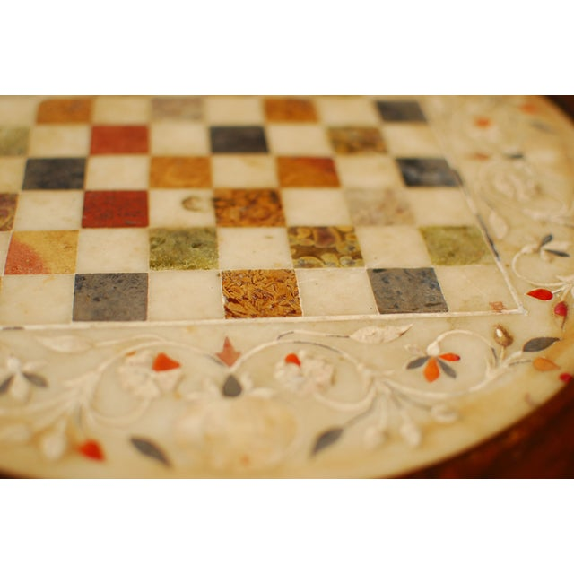 Rosewood Marble Game Table - Image 3 of 5