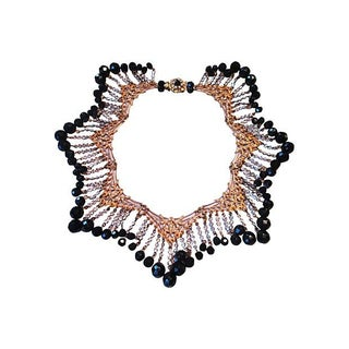 Miriam Haskell Filigree Panels Statement Collar