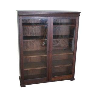Antique Mission Style Oak 2 Door Bookcase
