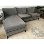 Image of Williams Sonoma Home Grey Velvet Sectional