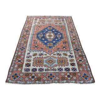 "Vintage Ori̇ental Turki̇sh Konya Rug - 4' x 6'8"""