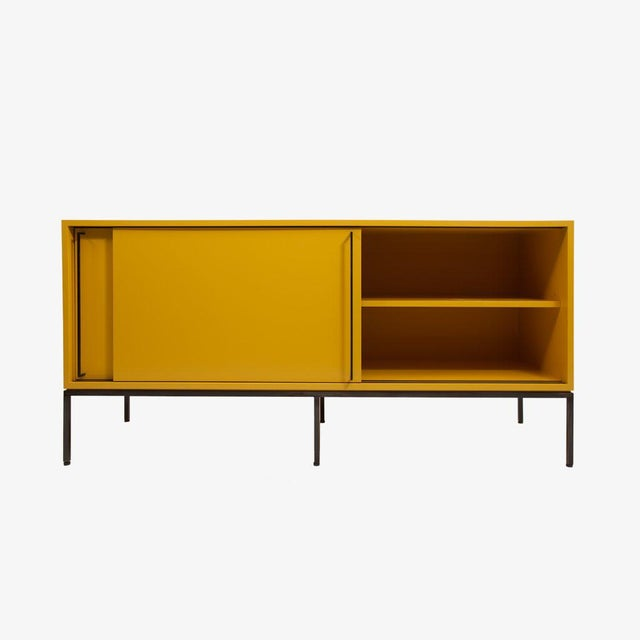 Customizable Re: 379 Grass Green Lacquered Credenza on Brass base - Image 6 of 9