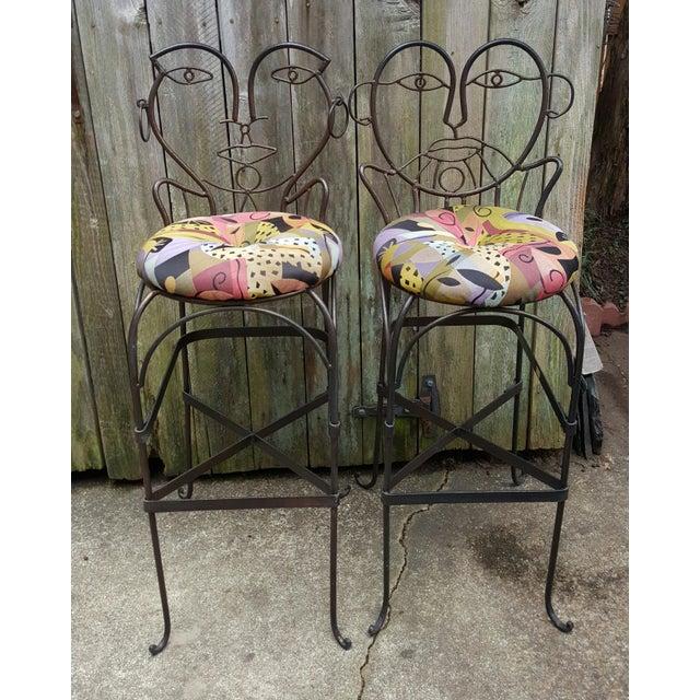 Image of John Risley Style Bar Stools - Set of 4
