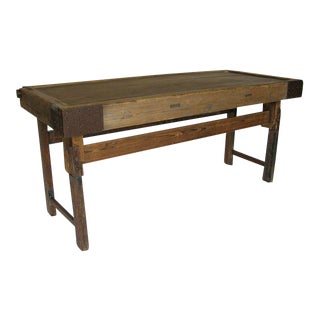 Japanese Tea Table Console With Iron