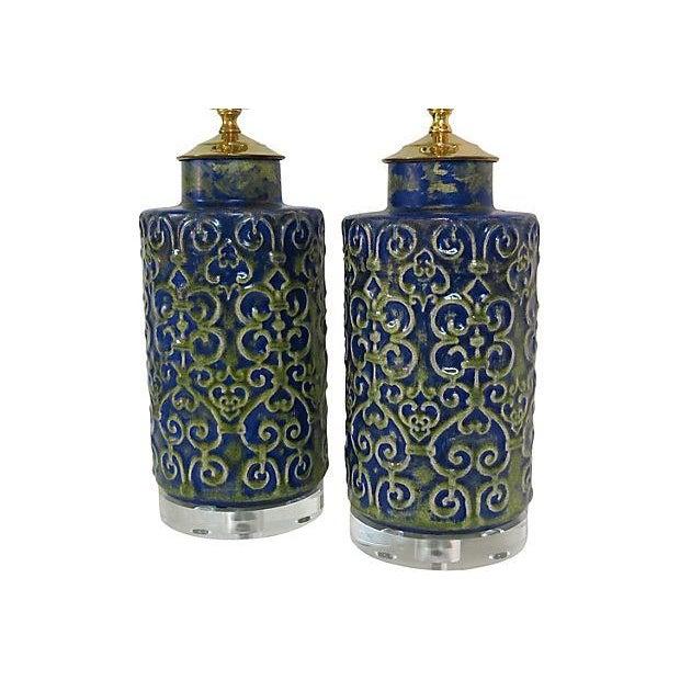 Image of Regency Ceramic Lamps - A Pair
