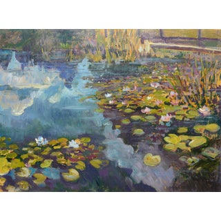 Waterlily Pond Oil Painting