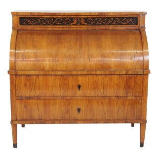 19th C. Biedermeier Cylinder Desk