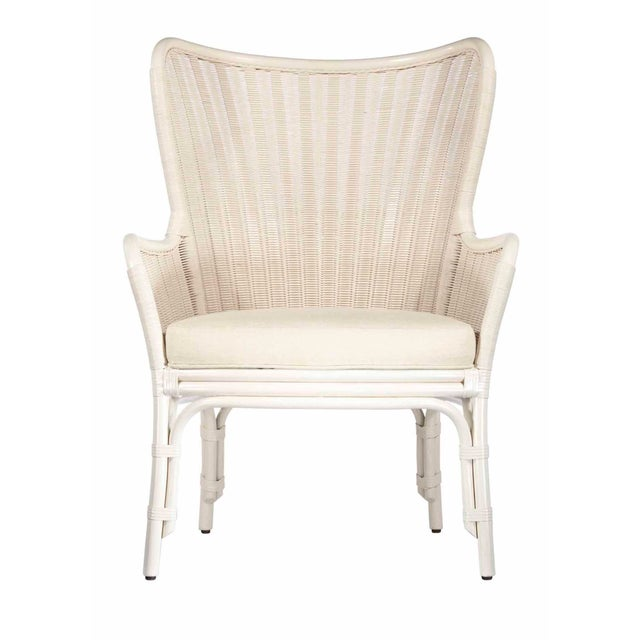 Selamat Designs Sheridan White Wing Chair - Image 1 of 2
